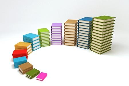 Bar Graph of Book Stock Photo - 13246383