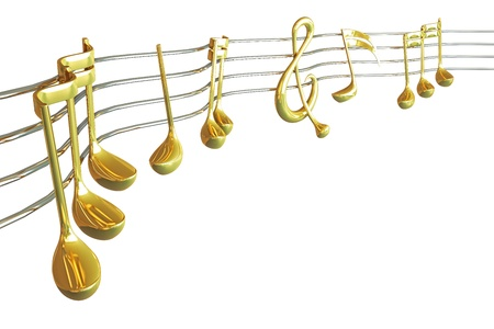 gold string: Music Note Stock Photo