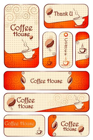 Complete Template for Cafe Vector