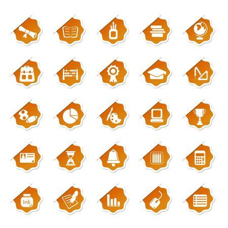 Sticker of Education Icon Stock Vector - 13246351
