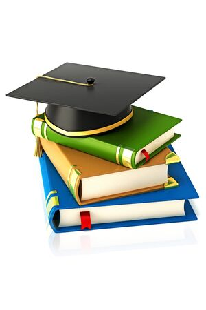 Mortar Board on Book Stock Photo - 13405666