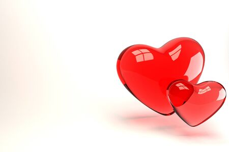 3d Pair of Heart Stock Photo - 13406120