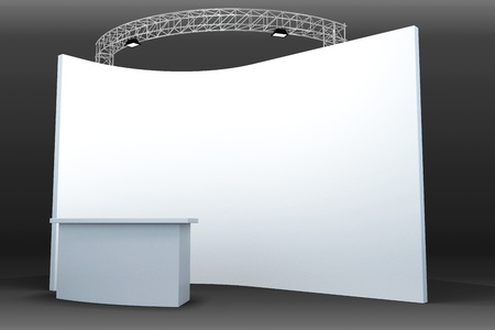 3d Trade Exhibition Booth Stock Photo - 13406126