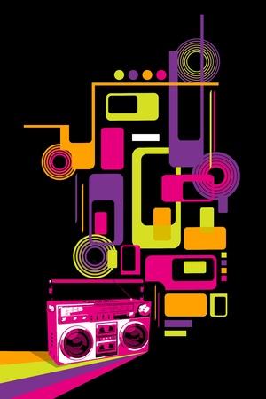 equipo de sonido: Vector de colores Música Vectores