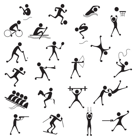 team sports: Sports Icon Illustration