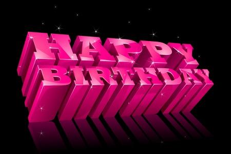 Colorful Happy Birthday Stock Vector - 13533426
