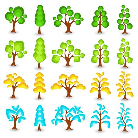 Collection of tree Stock Vector - 13533424
