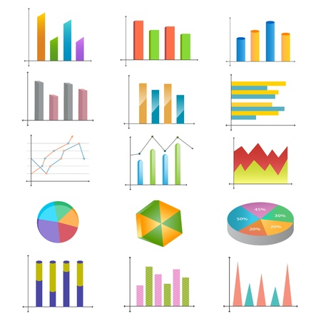 Business Graph Stock Vector - 13533420