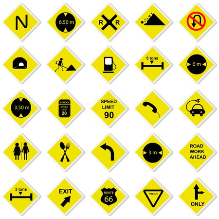 Road Sign Stock Vector - 13646393