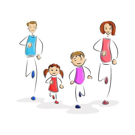 jog: Playing Family Illustration