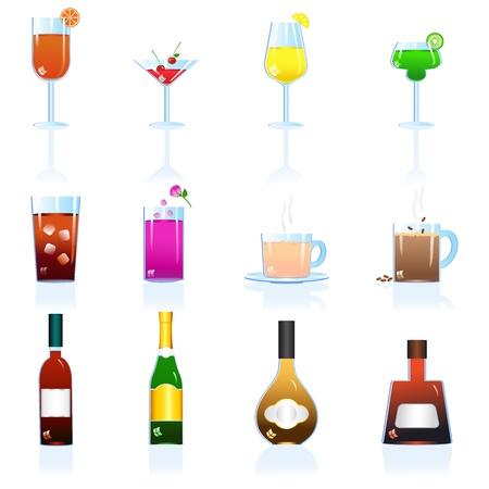 retro bottle: Cocktail and Beverage Drink Illustration