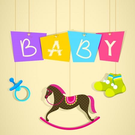 Baby Shower Background Stock Vector - 13646385