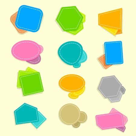 Colorful Speech Bubble Stock Vector - 13700581