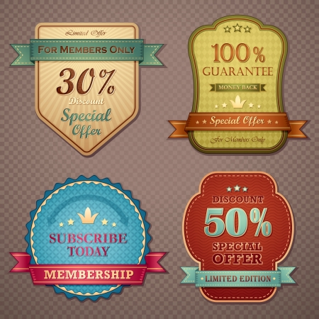 scalable set: Vintage Quality Badge
