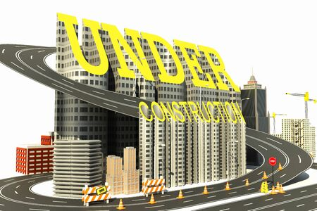 Under Construction Town Stock Photo - 13700620