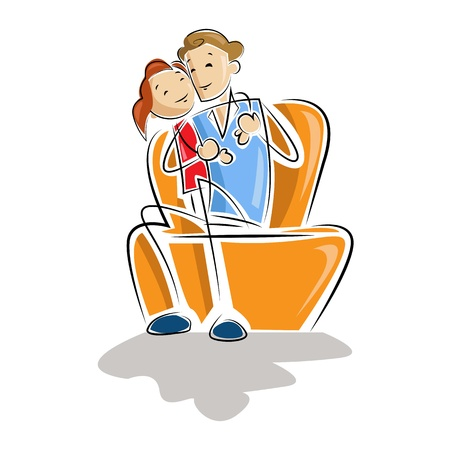 Father and Daughter Stock Vector - 13700575