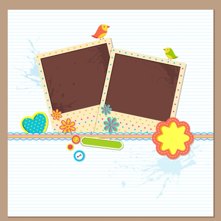 Scrapbook Photo Frame Stock Vector - 13700582