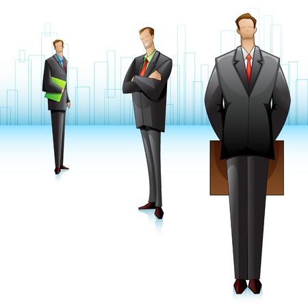 business suit: Business Team Illustration