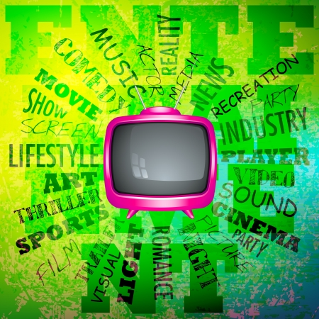 Television on Musical Abstract Vector