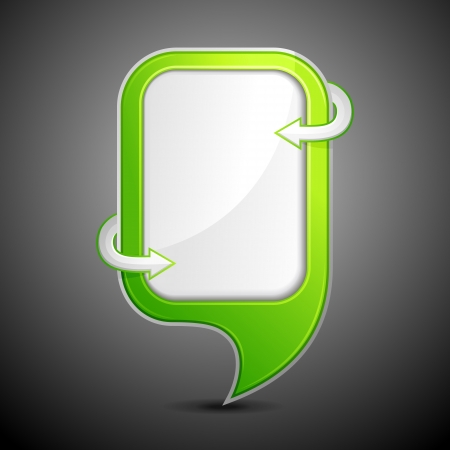 Glossy Chat Bubble Vector