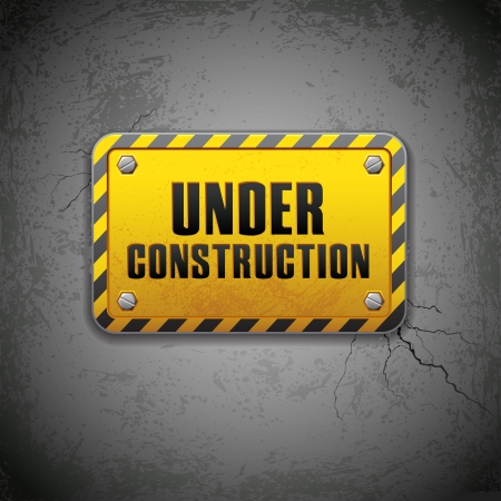 hazard damage: Under Construction Board