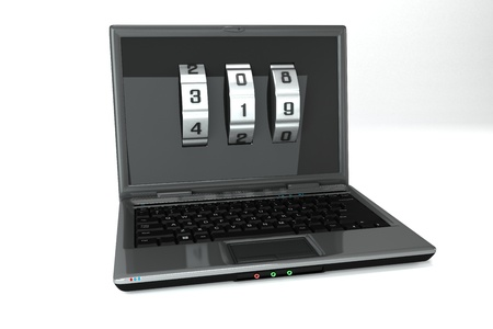 Locked Notebook Stock Photo - 13874365