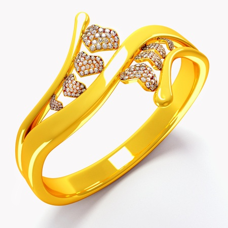 Gold Heart Ring Stock Photo - 13874348
