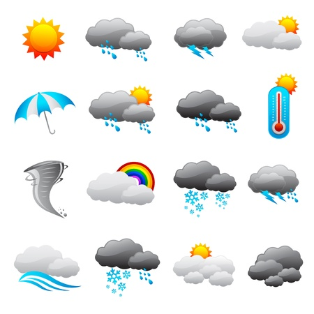 Weather Forecast Icon Illustration