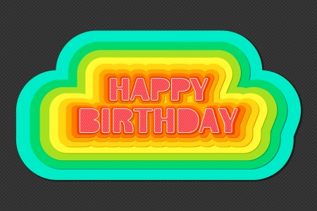 Colorful Birthday Stock Vector - 13905092