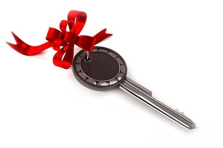Key with ribbon Stock Photo - 13905048