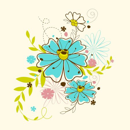 Colorful Flower Stock Vector - 13904980