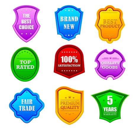 Glossy Promotional Label Stock Vector - 13955598