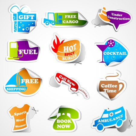 Promotional Tag Sticker Vector