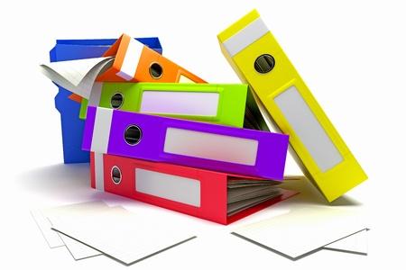 overwork: Colorful Box FIle Stock Photo