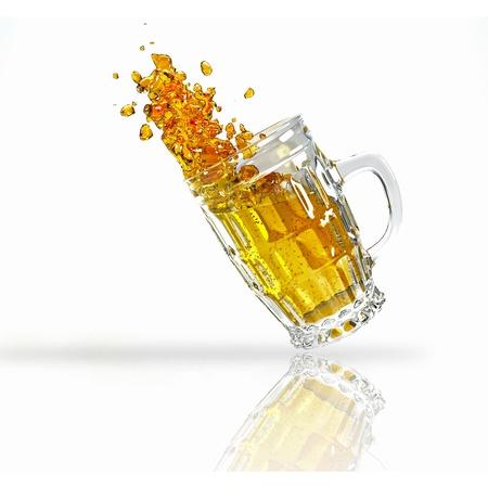 chilled: Splashing Beer Mug Stock Photo
