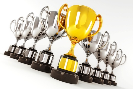 Gold and SilverTrophy Stock Photo - 14315393