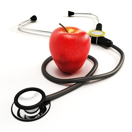 Stethoscope with Apple Stock Photo - 14315383