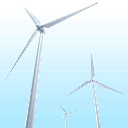 windpower: Wind Turbine Stock Photo