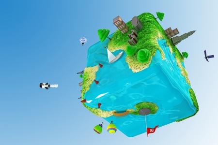 Square Earth photo