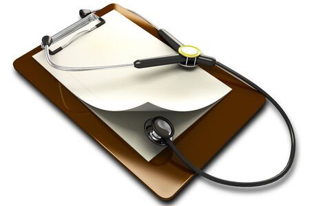 Stethoscope with Notepad photo