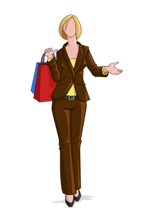 Woman doing Shopping Stock Vector - 14315235