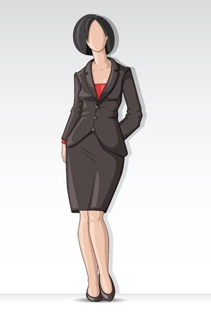 Business Lady Vector