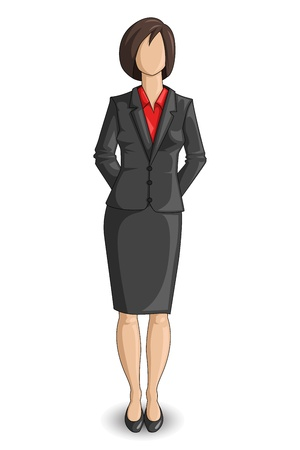 sexy woman standing: Business Woman