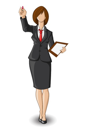 Business Woman giving Presentation Vector