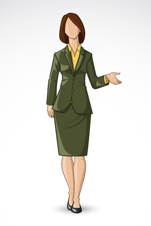 woman business suit: Business Lady giving Presentation Illustration