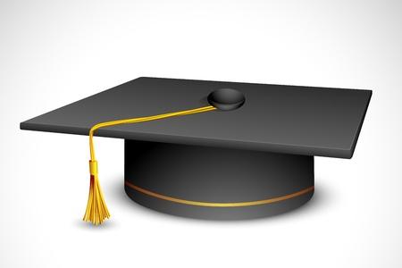 master degree: illustration of mortar board against white background