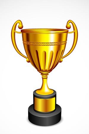 illustration of gold trophy against white background Stock Illustration - 14388211
