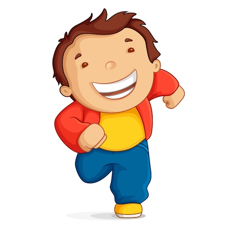 illustration of kid running against white background Stock Illustration - 14388198