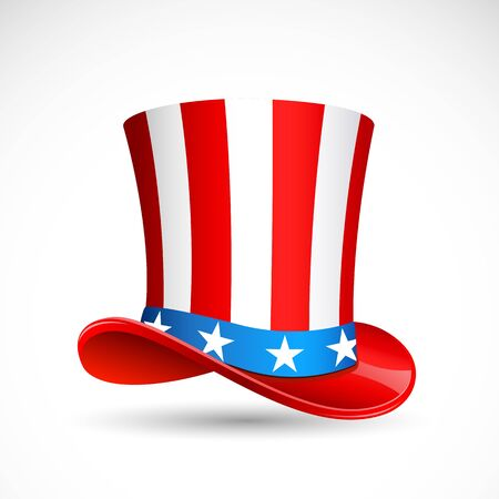 vector illustration of hat in American flag color Stock Vector - 14504560