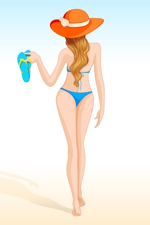 vector illustration of sexy lady in swim suit Stock Vector - 14504614